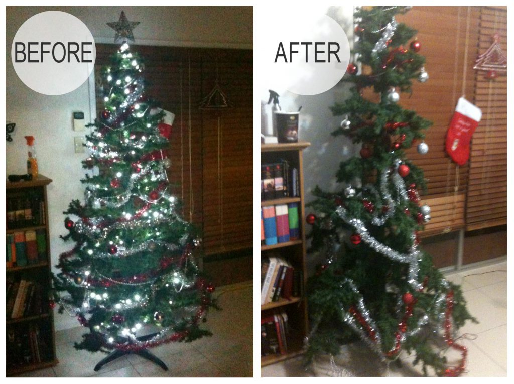 2012 Christmas Tree Before and After