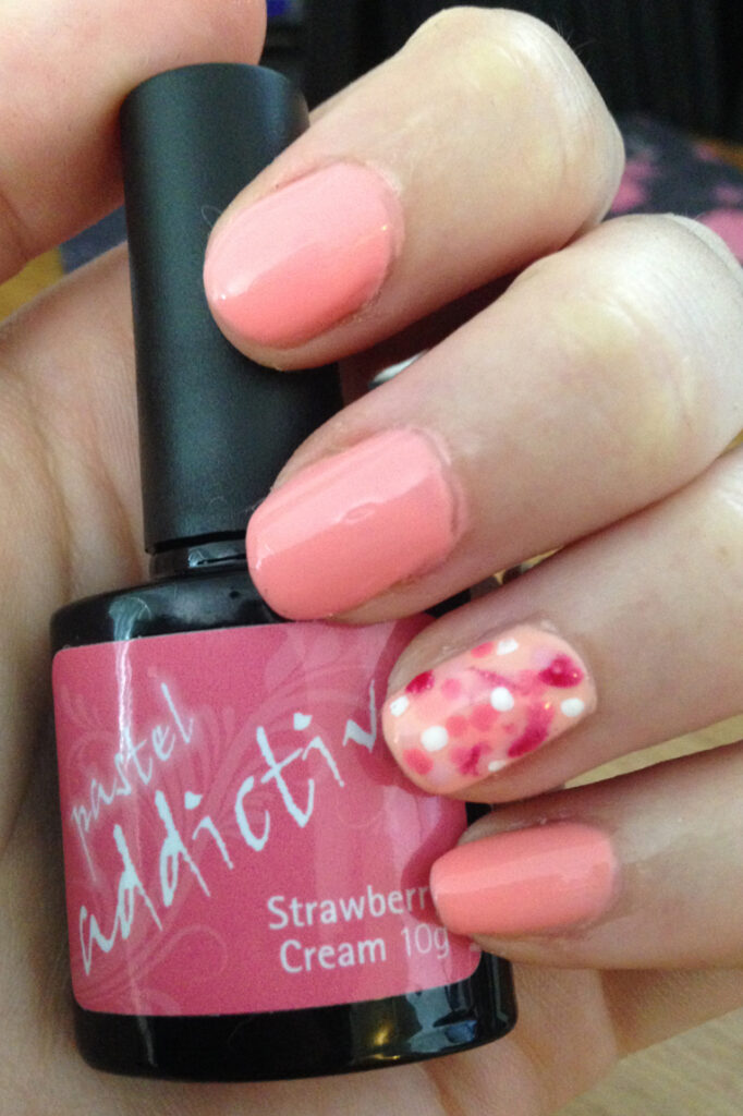 Pink Spotted Nails