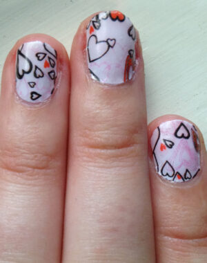 Valentine's Hearts Nails Feature Image