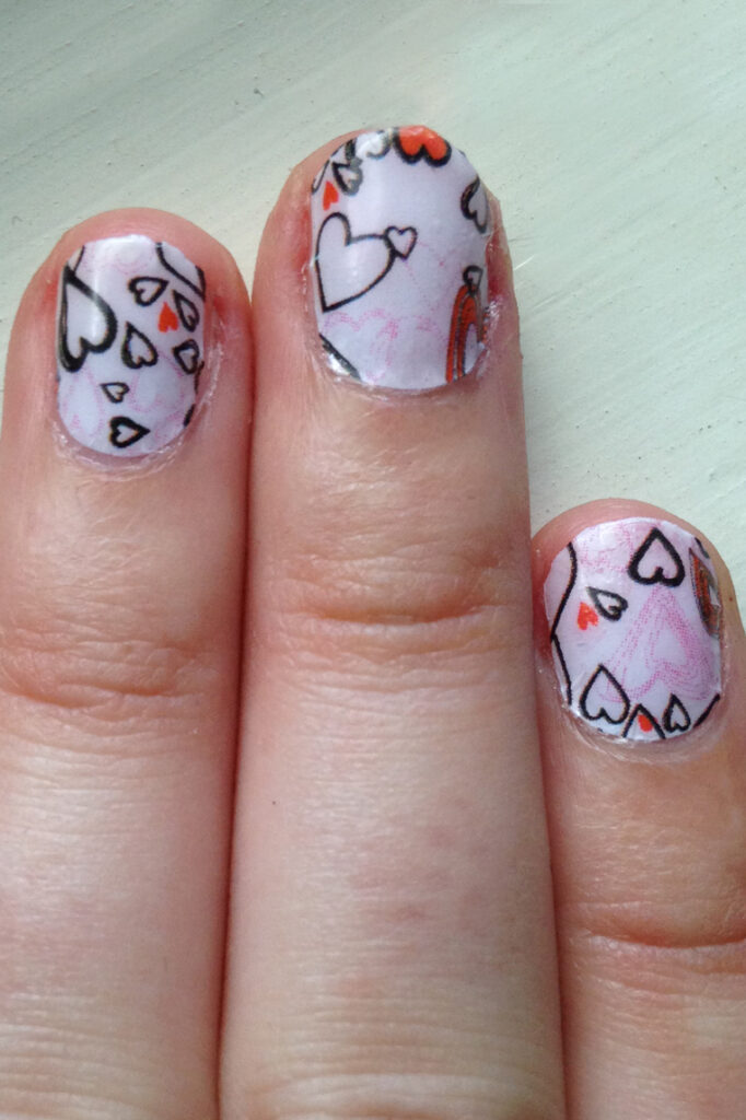 Valentine's Hearts Nail Sticker Nails