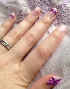 Pastel Wedding Nails Feature Image