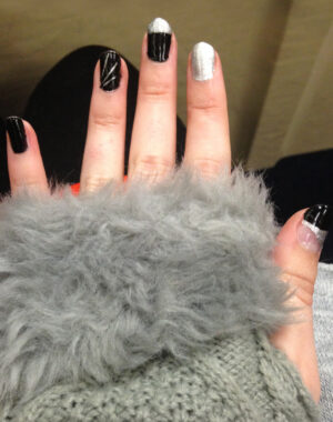 Silver and Black Nails Feature Image