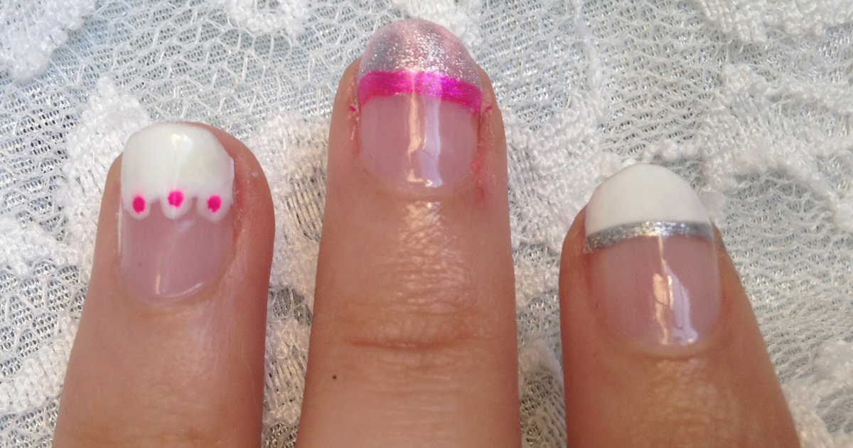 Pink and Silver French Tip Nails - Style Within Grace