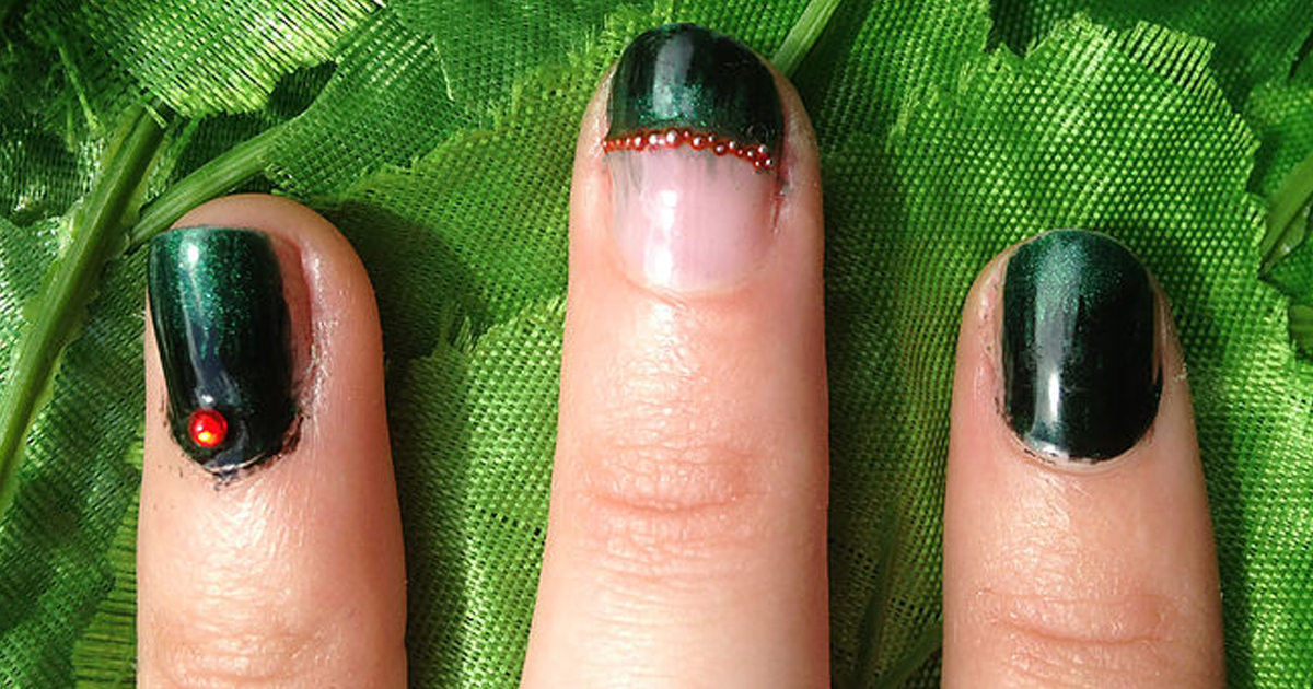 Poison Ivy Nails with Nail Caviar - Style Within Grace