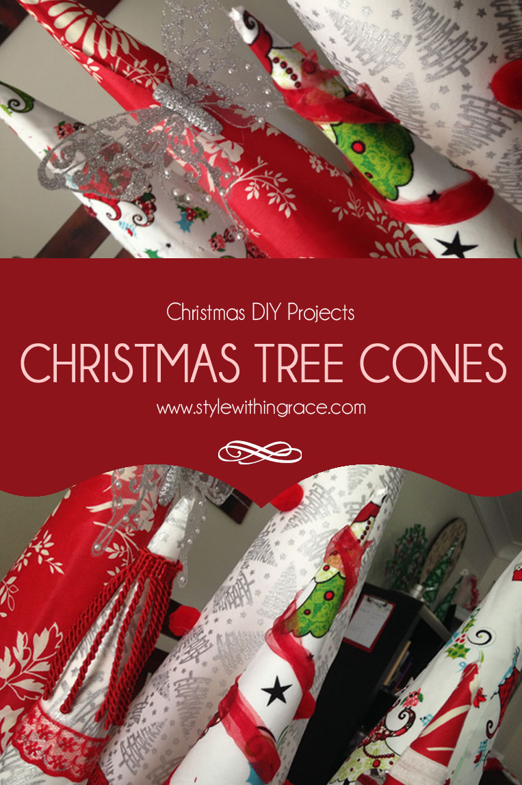 Christmas Tree Cones - A cheap and easy DIY home decor idea and tutorial to give you house a festive twist. A great alternative to having a real Christmas tree.