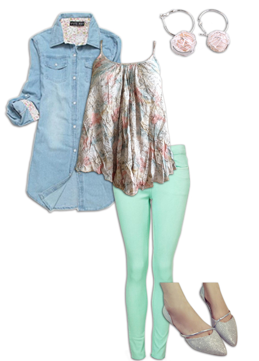 Chambray Shirt Outfit 7