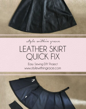 DIY Leather Skirt Quick Fix Title
