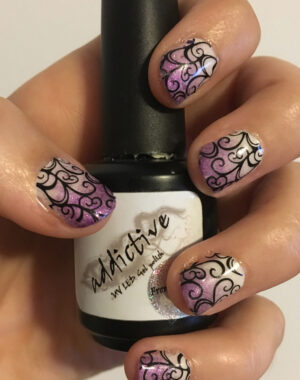 Purple Ombre Swirl Nails Pinterest Graphic Template