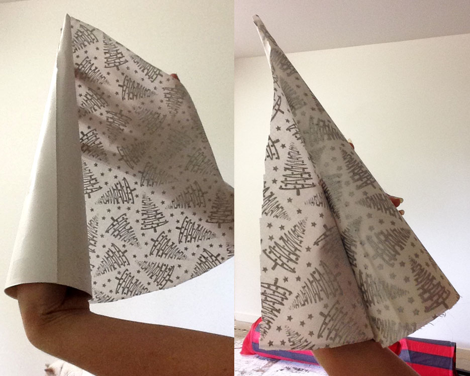 Step 6: Glue Fabric to Cone