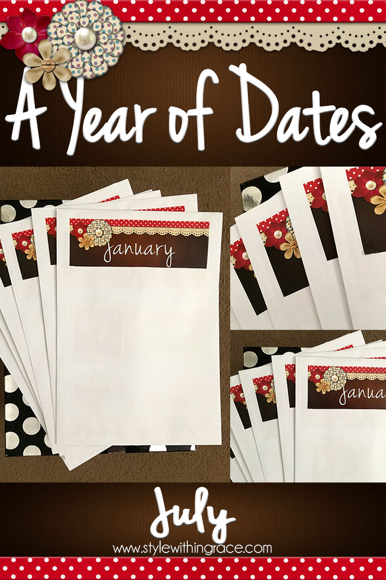 A Year of Dates (In A Box) July - A month of date ideas for book worms. Cheap dates themed around reading that are perfect for any day of the week.