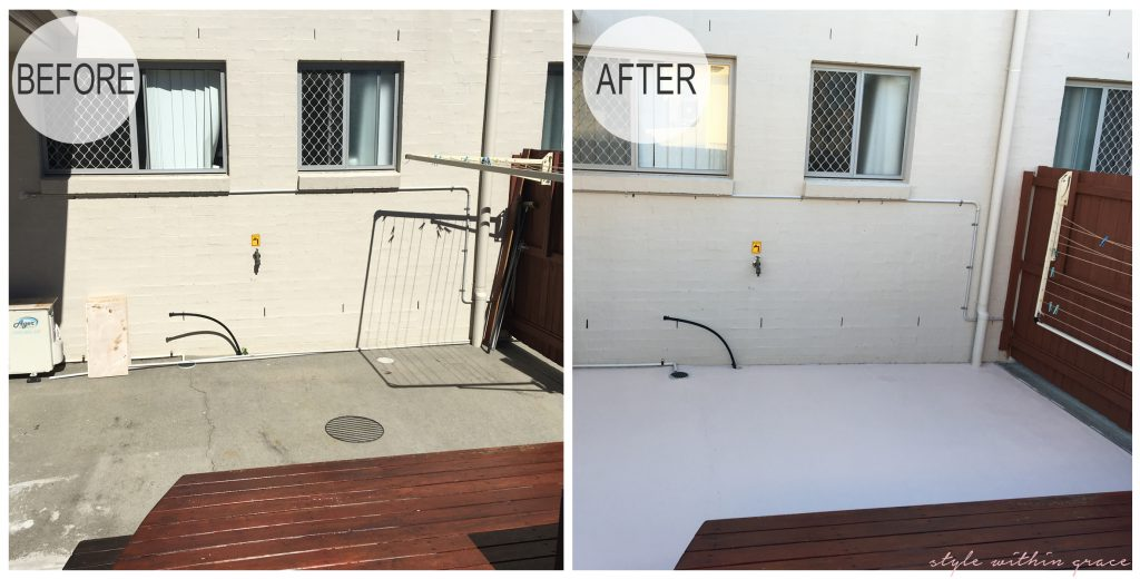 Backyard Deck Before and After Right Side