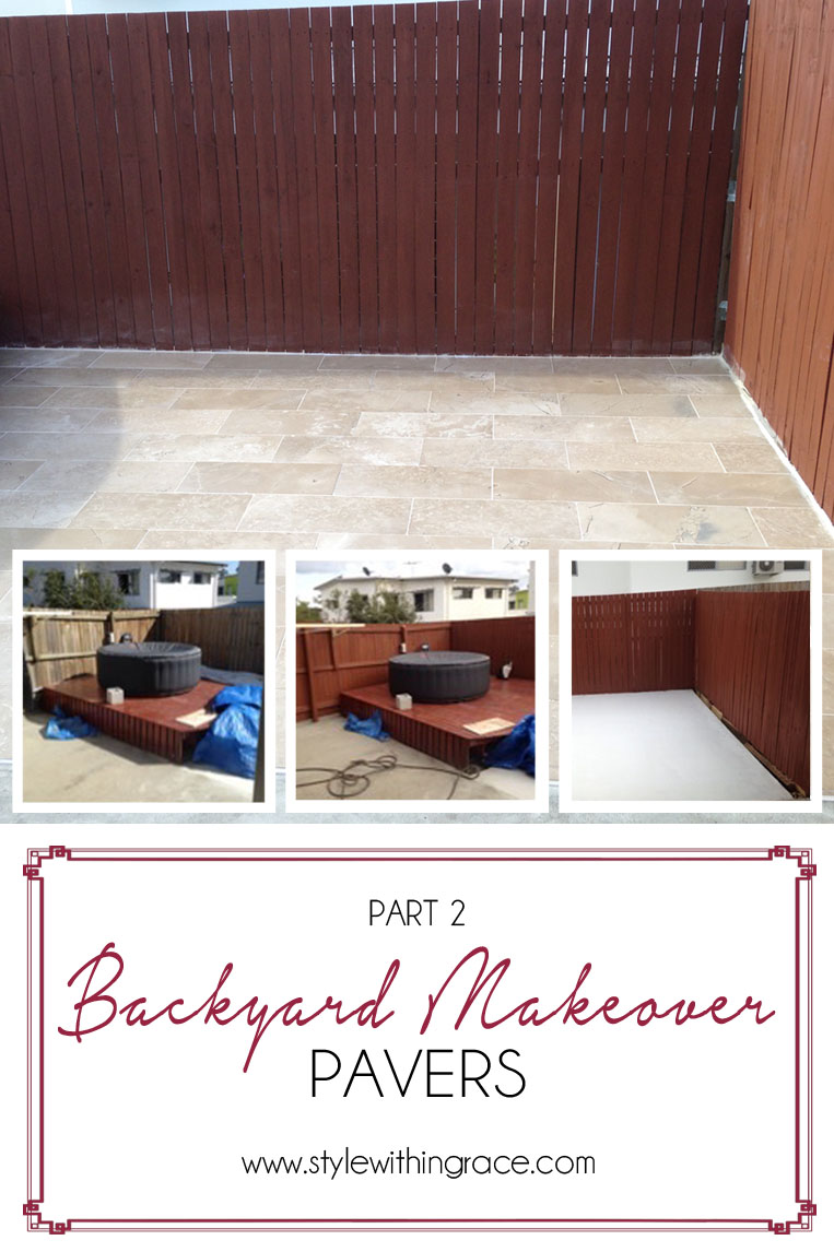 Part 2 in my quest to make the outdoor patio the best room in or out of the house. In the next installment of our backyard makeover we add some pavers to the space and paint the ugly fence to make it look new again.