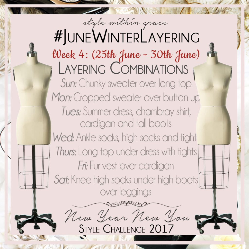 June Winter Layering Style Prompts Week 4