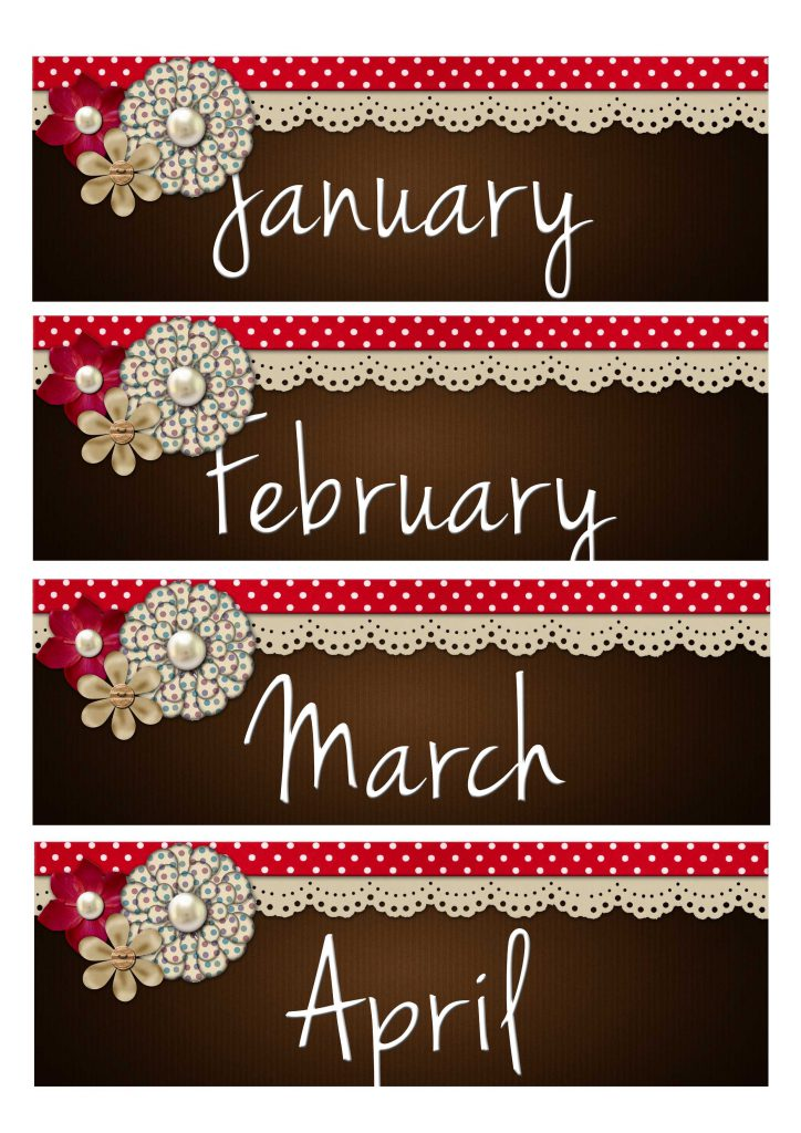 Month Label Printable 2