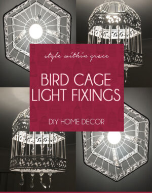 DIY: Beaded Bird Cage Light Fixings