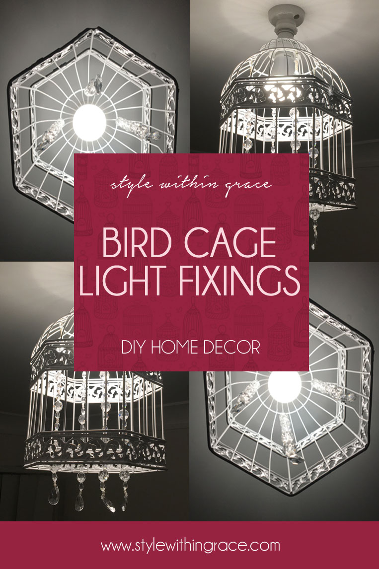 A classy home decor DIY to update your old light fixings with beautiful beaded bird cage ones instead. A step by step tutorial for how to do it yourself and turn your house into your home.