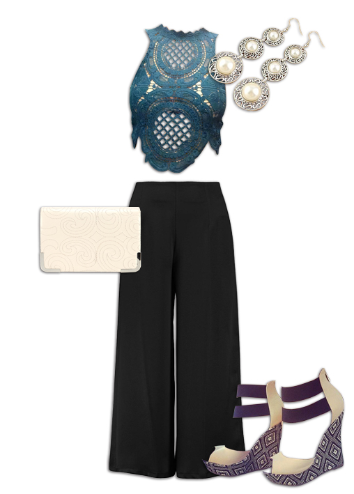Black Culottes Outfit 10