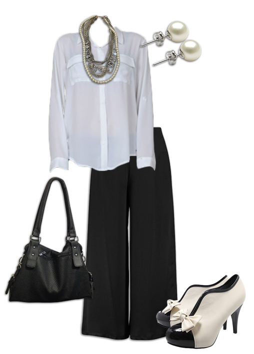 Black Culottes Outfit 2