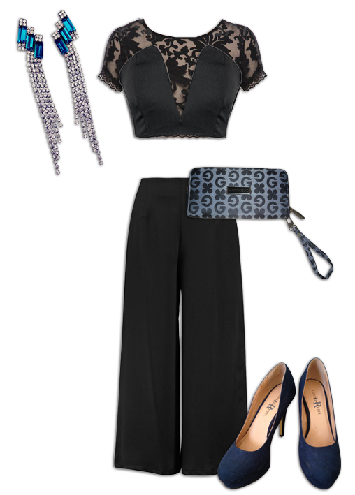 Black Culottes Outfit 5