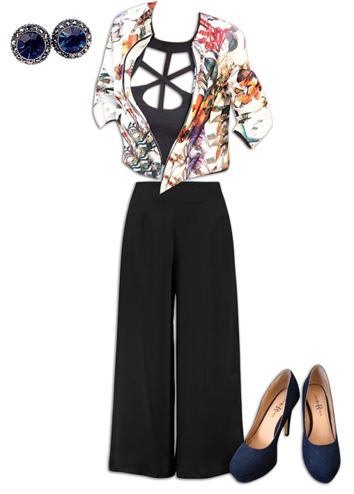 Black Culottes Outfit 7