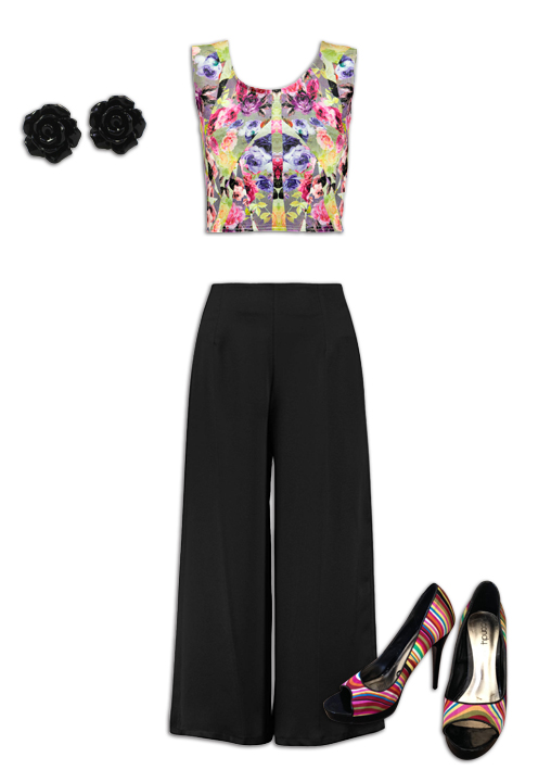 Black Culottes Outfit 8