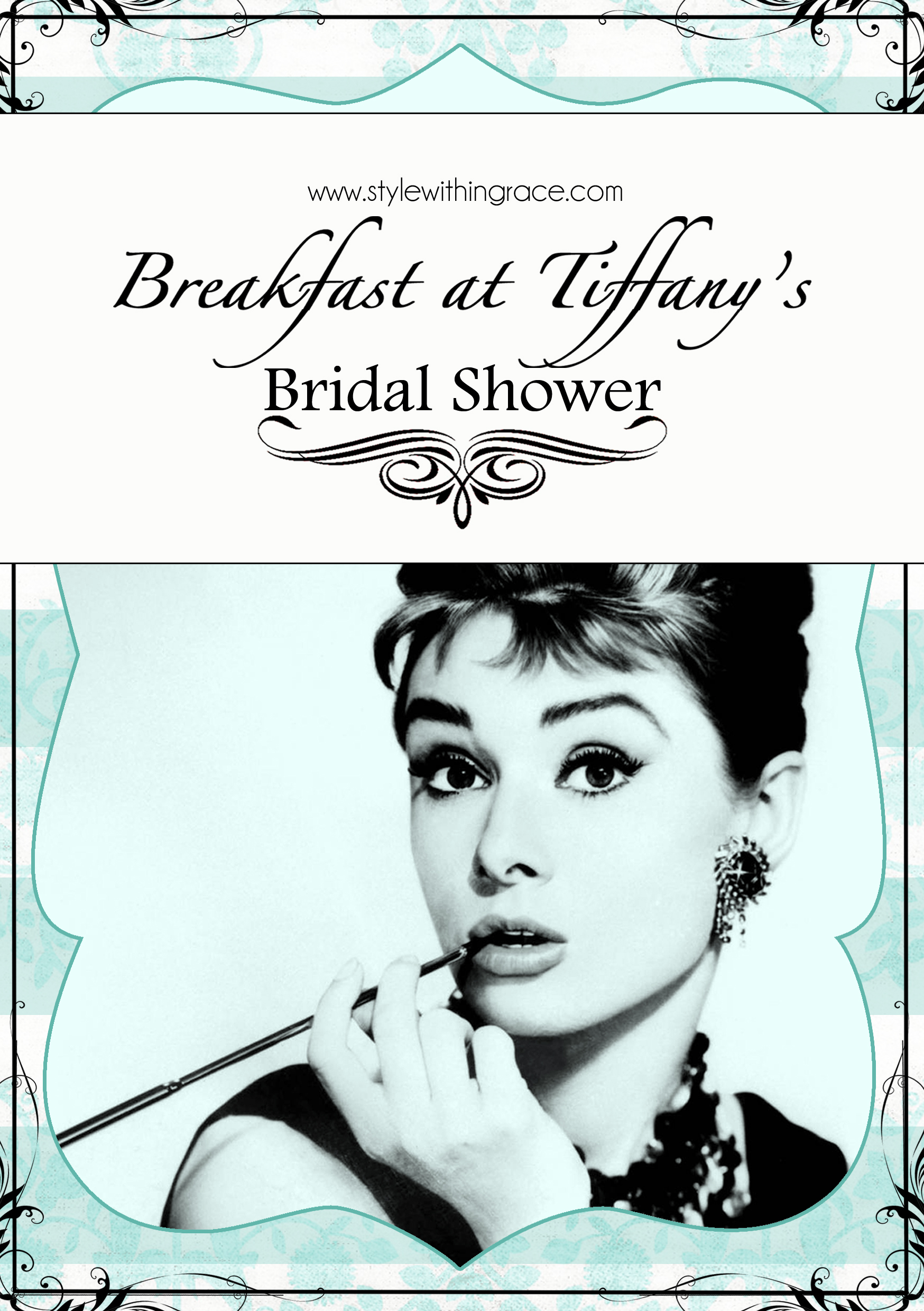 A classy yet affordable DIY bridal shower or hens night themed around the movie Breakfast at Tiffany's. Game ideas and printable, invite templates and a keepsake inspiration.