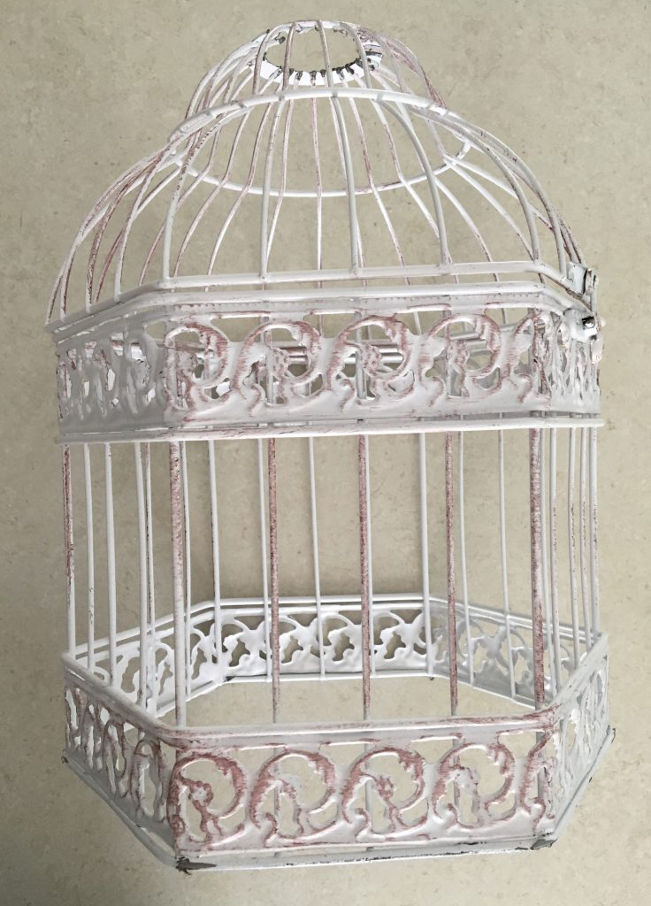 DIY Beaded Bird Cage Light Fixings Step 1-2