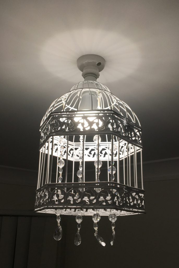 DIY Beaded Bird Cage Light Fixings Step 7-1