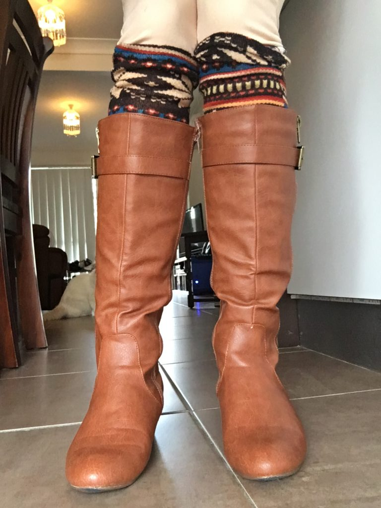 DIY Leggings into Leg Warmers After 3