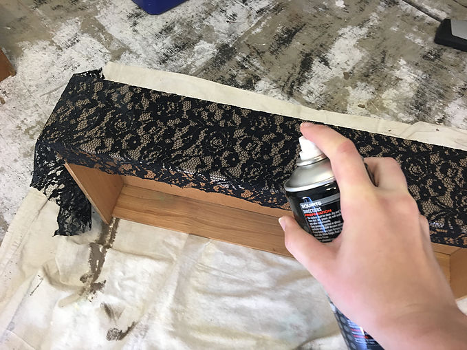 Drawer Makeover DIY Lace 1