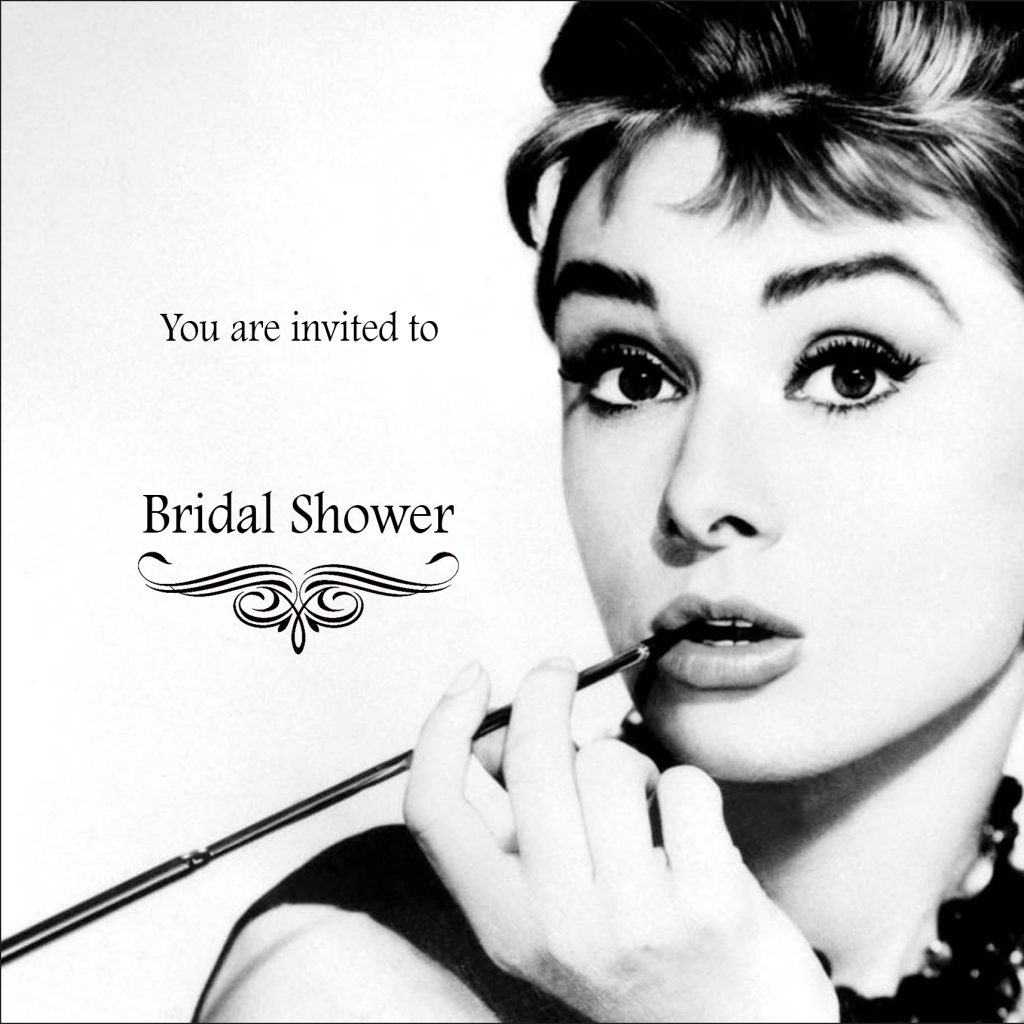 Breakfast at Tiffany's Bridal Shower Invite Template 1