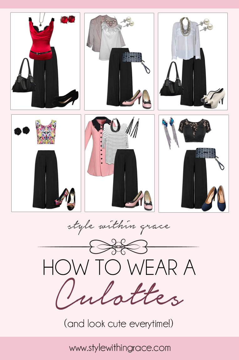 A complete guide on how to wear and style culottes and look cute and fashionable every time. Outfit formulas, tips and tricks and where you can find your own culottes.
