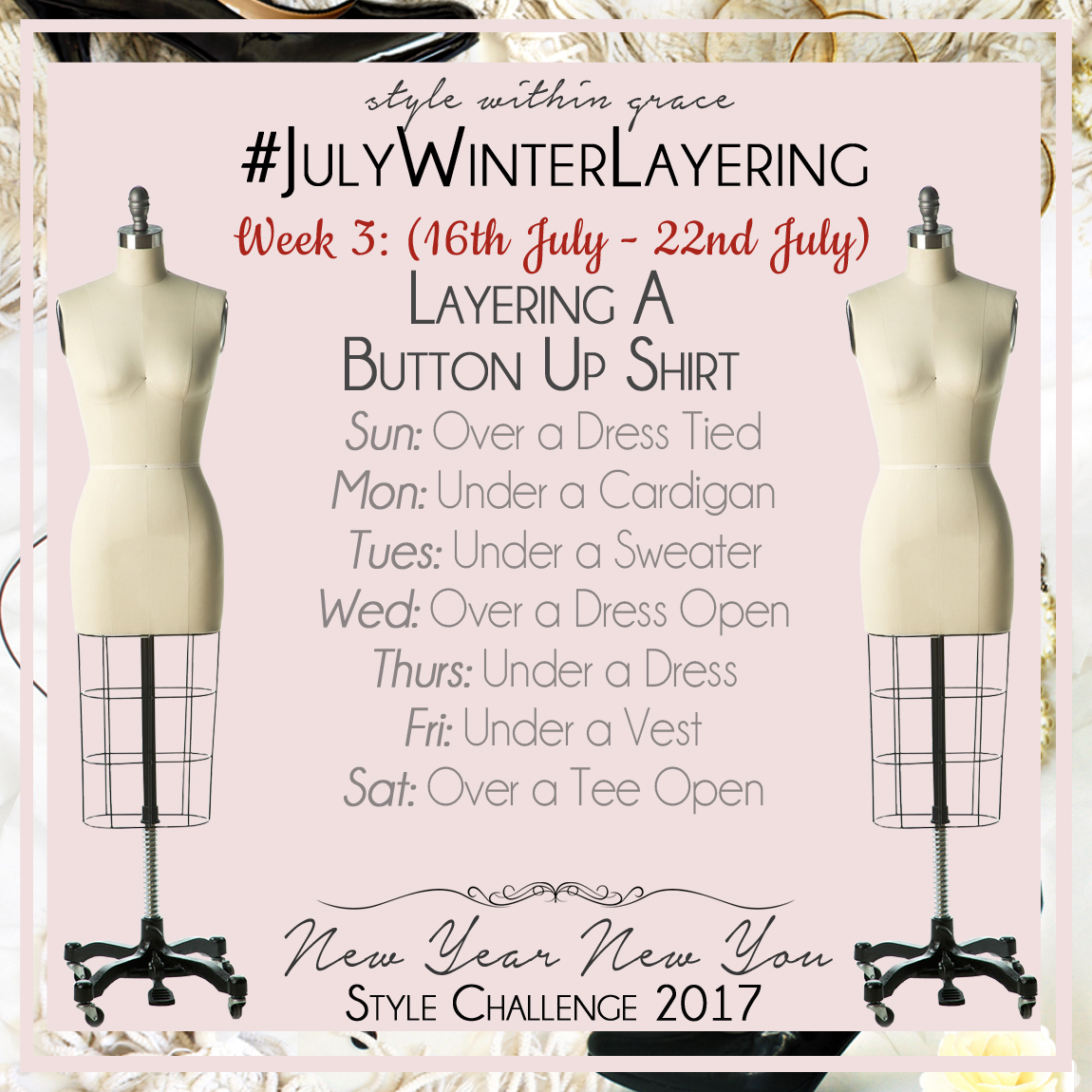 July Winter Layering Style Prompts Week 3