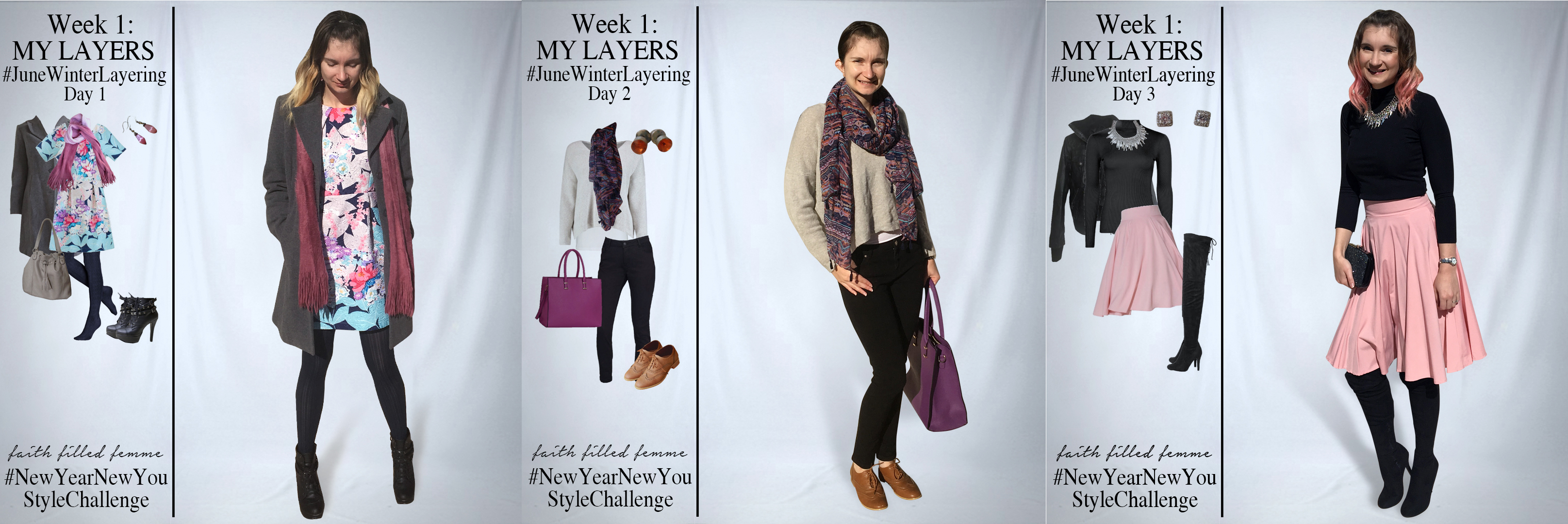 June Winter Layering Preweek Outfit Ideas