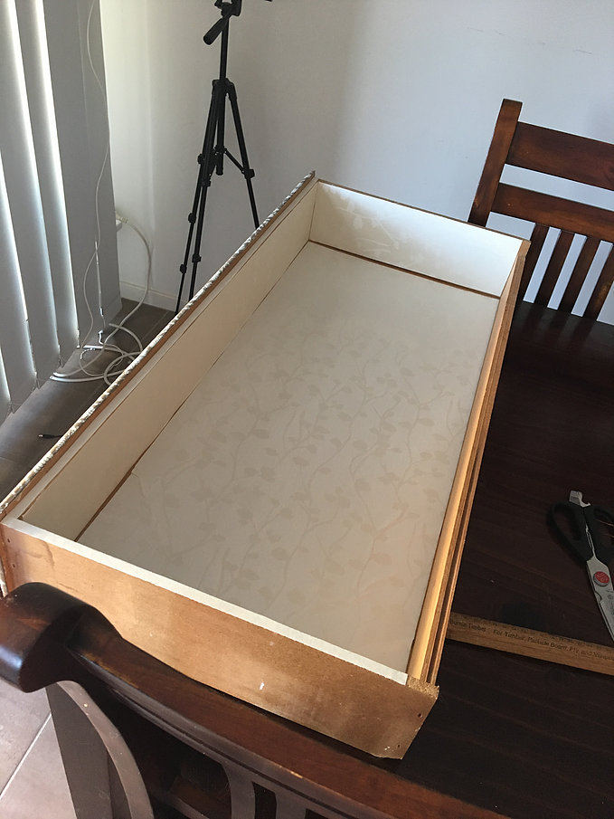 Lace Drawer Makeover DIY Lining 3
