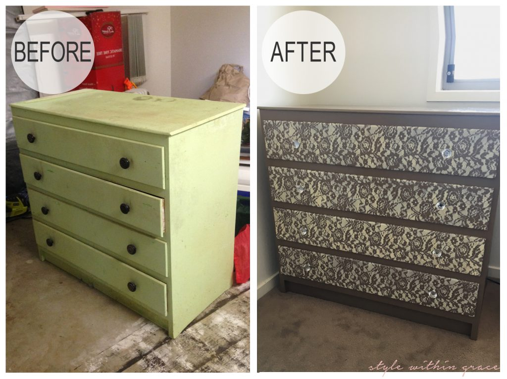 Lace Drawers Before and After