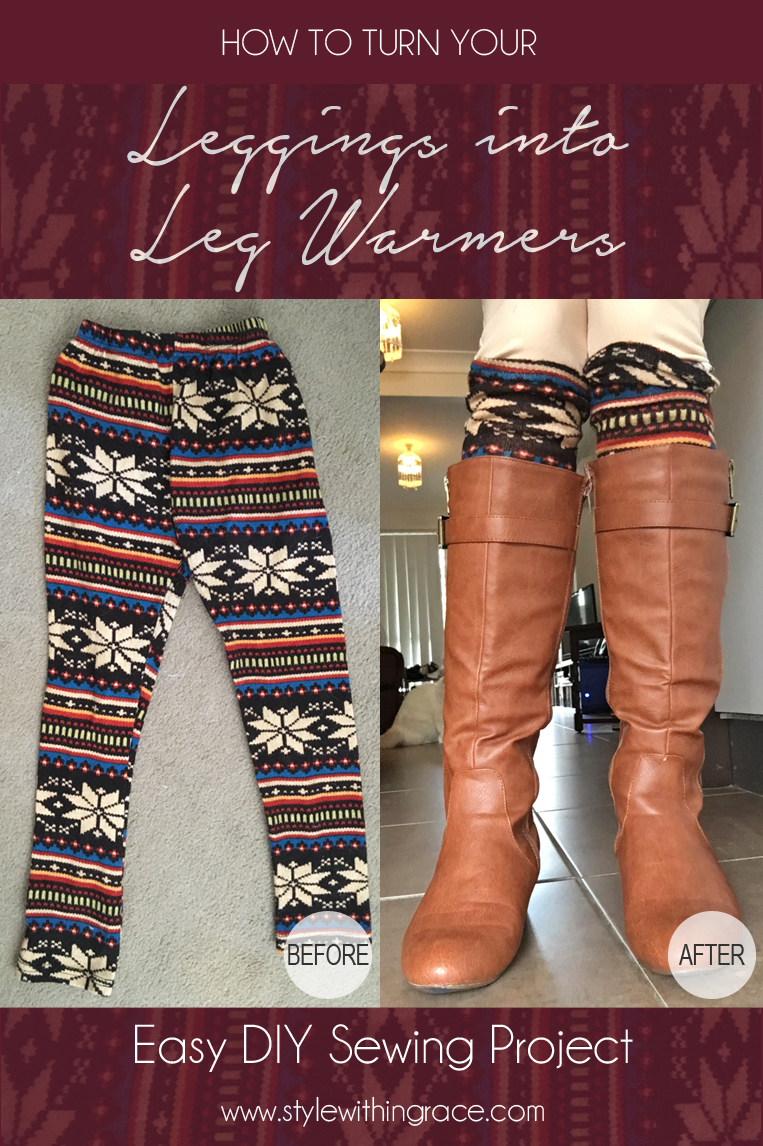 A quick and simple sewing DIY to turn your old leggings into leg warmers. As well as a cute outfit styling the newly made leg warmers.
