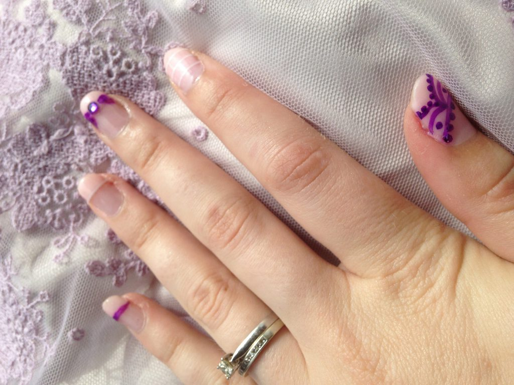Pastel Wedding Nails 3