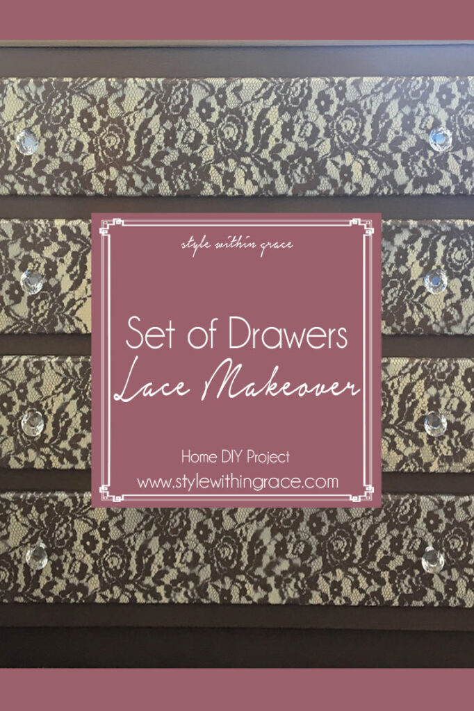 DIY: Set of Drawers Lace Makeover
