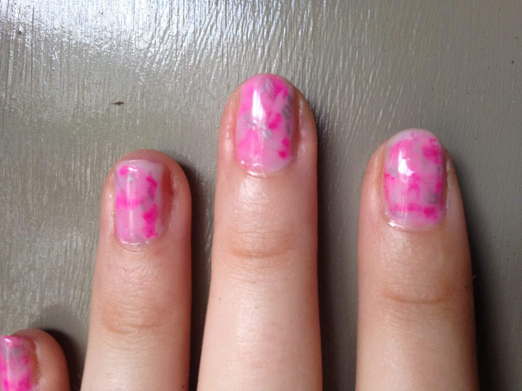 Sharpie Marble Nails 2