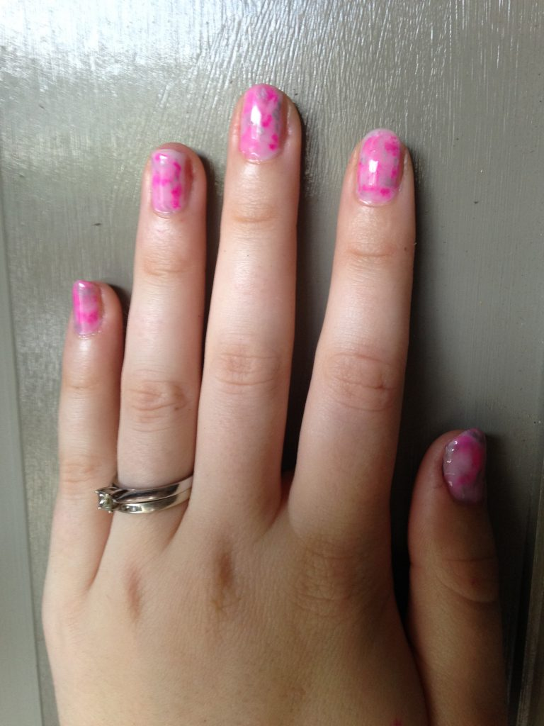 Sharpie Marble Nails 3