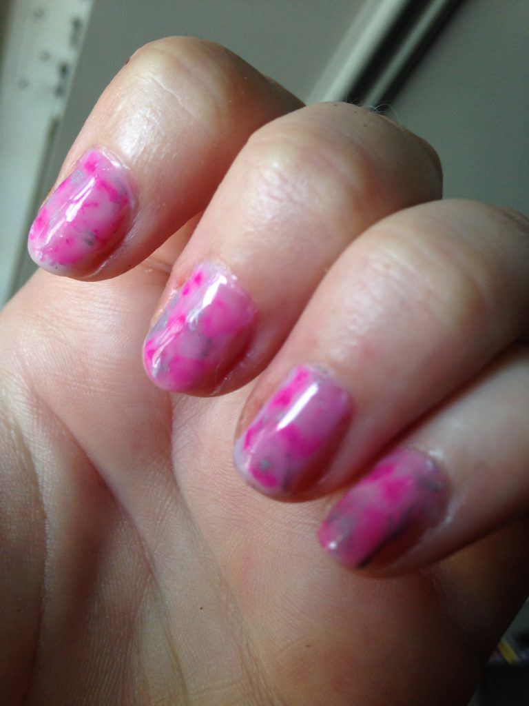 Sharpie Marble Nails 4
