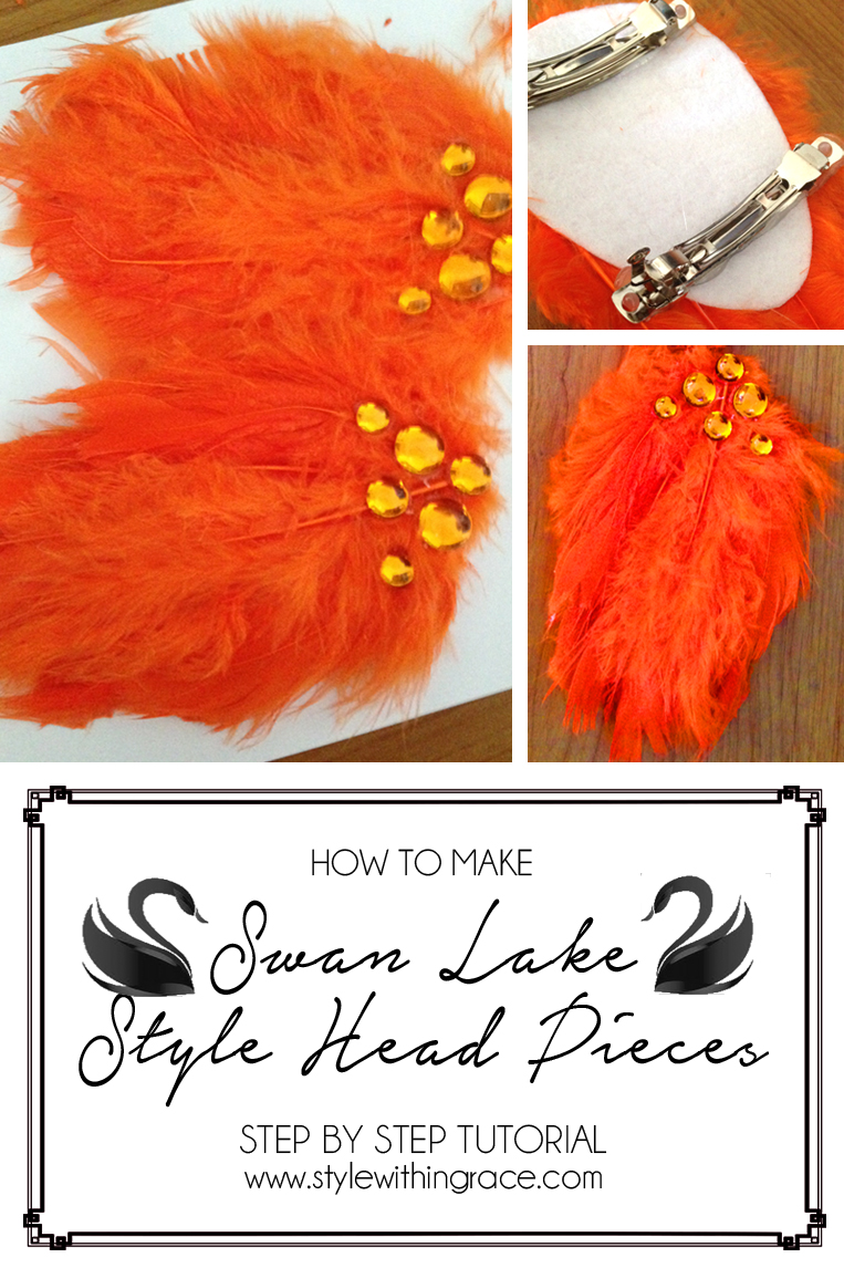 How to Make Swan Lake Hair Pieces - Step by Step Tutorial. Easy Costume DIY Project.