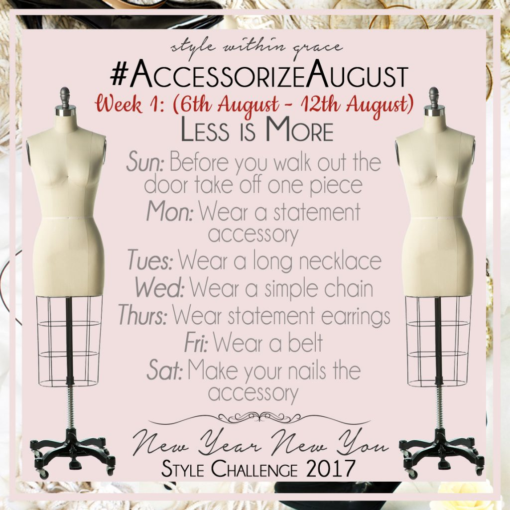 Accessorize August Style Prompts Week 1