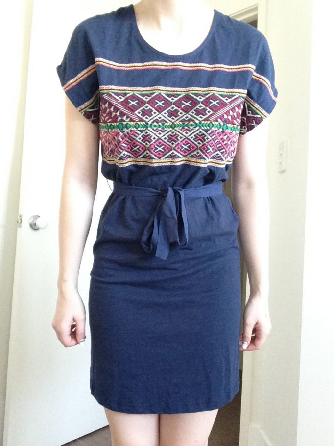 Esley Embroidered Navy Dress