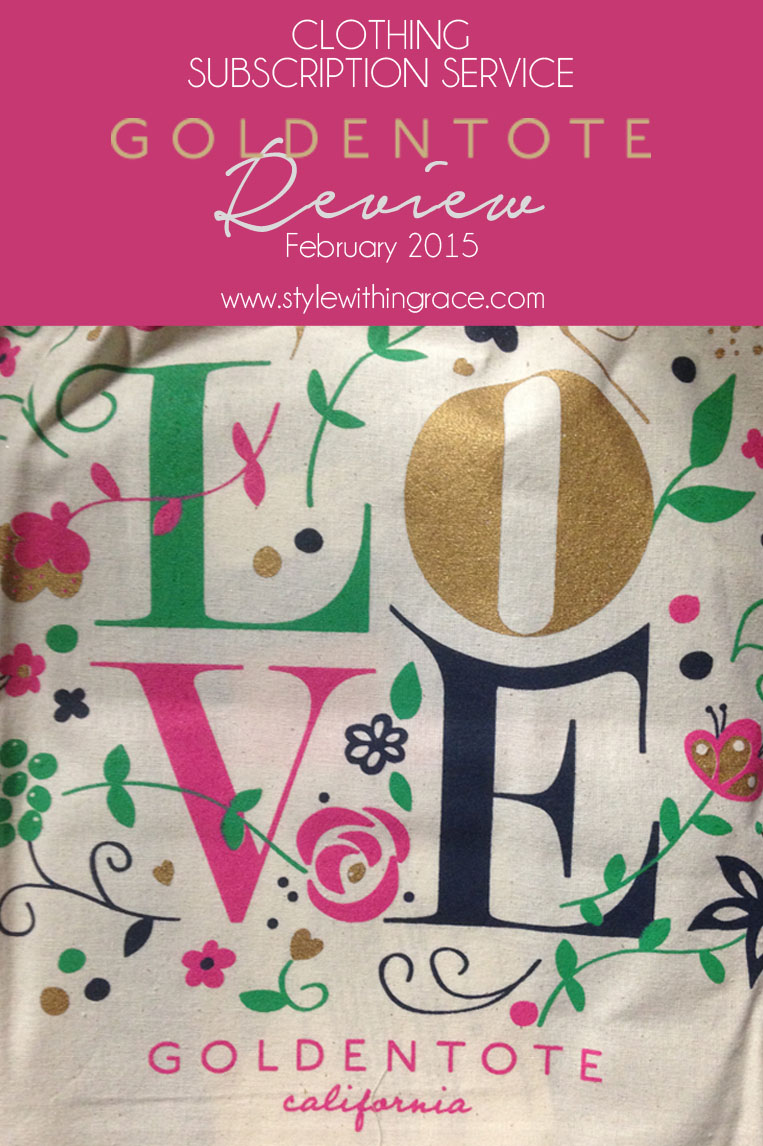 Golden Tote monthly fashion subscription service review for February 2016