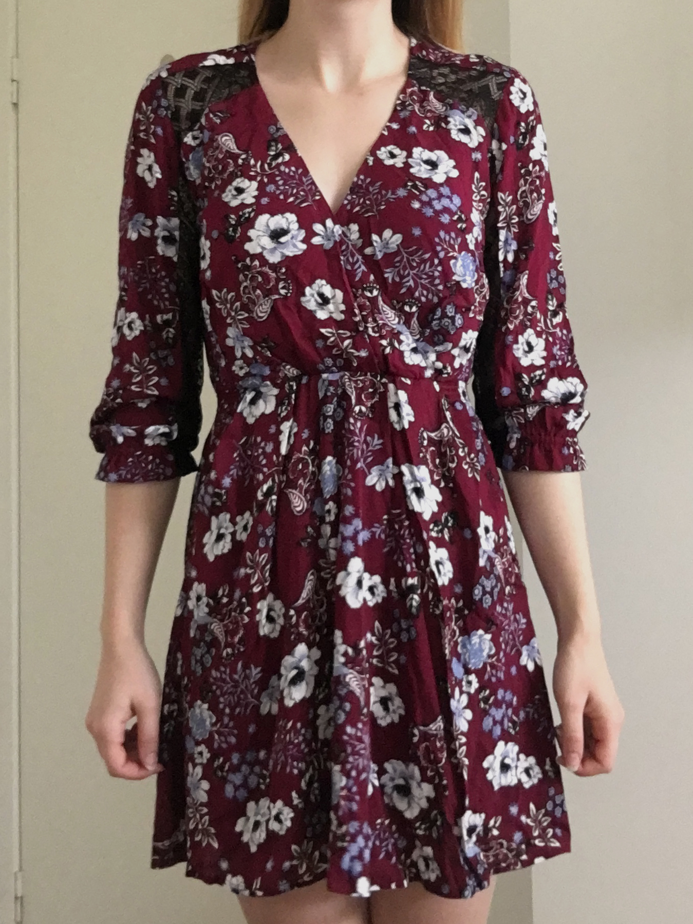 19 Cooper Floral Dress with Lace Back 1