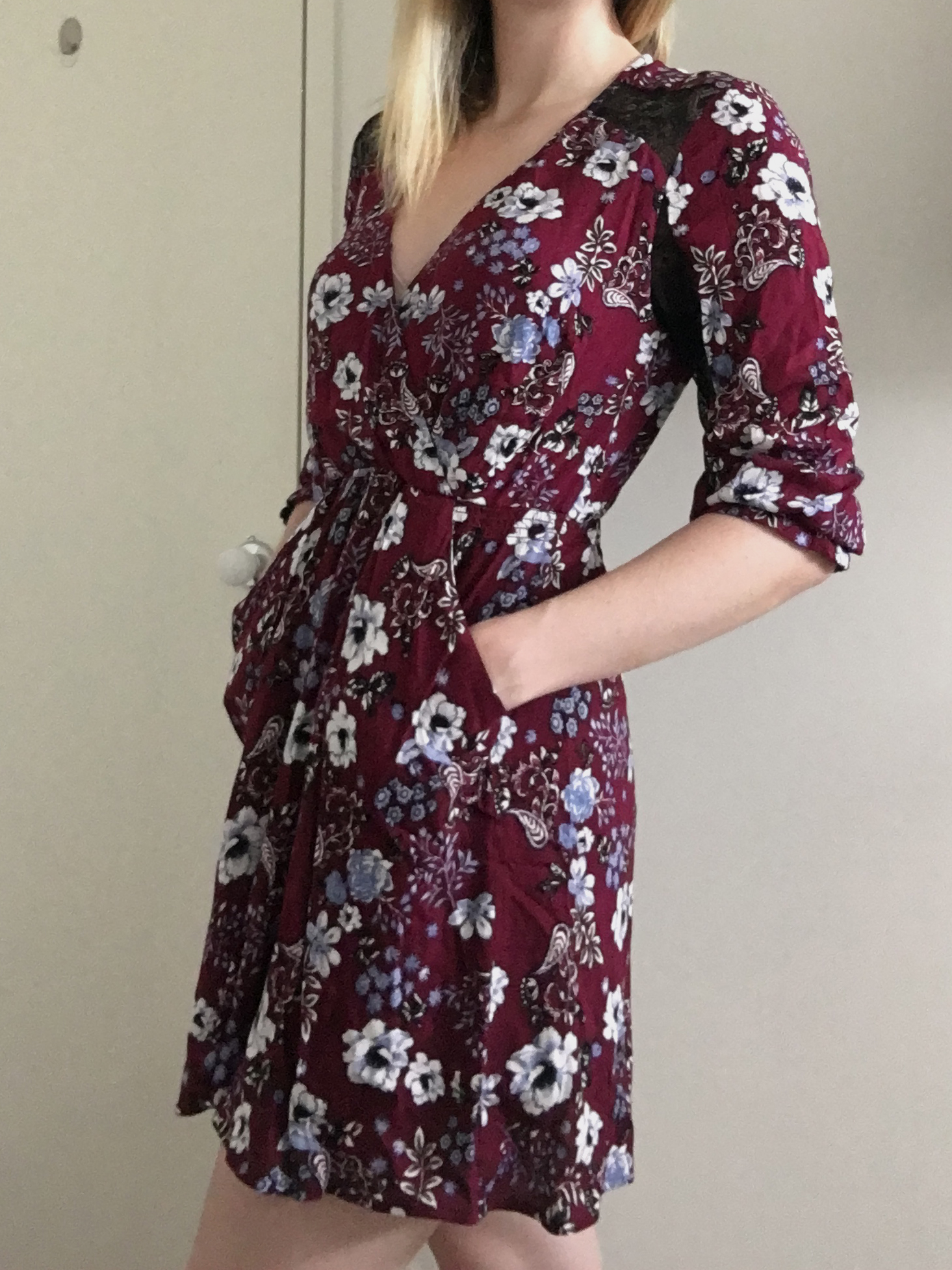 19 Cooper Floral Dress with Lace Back 3