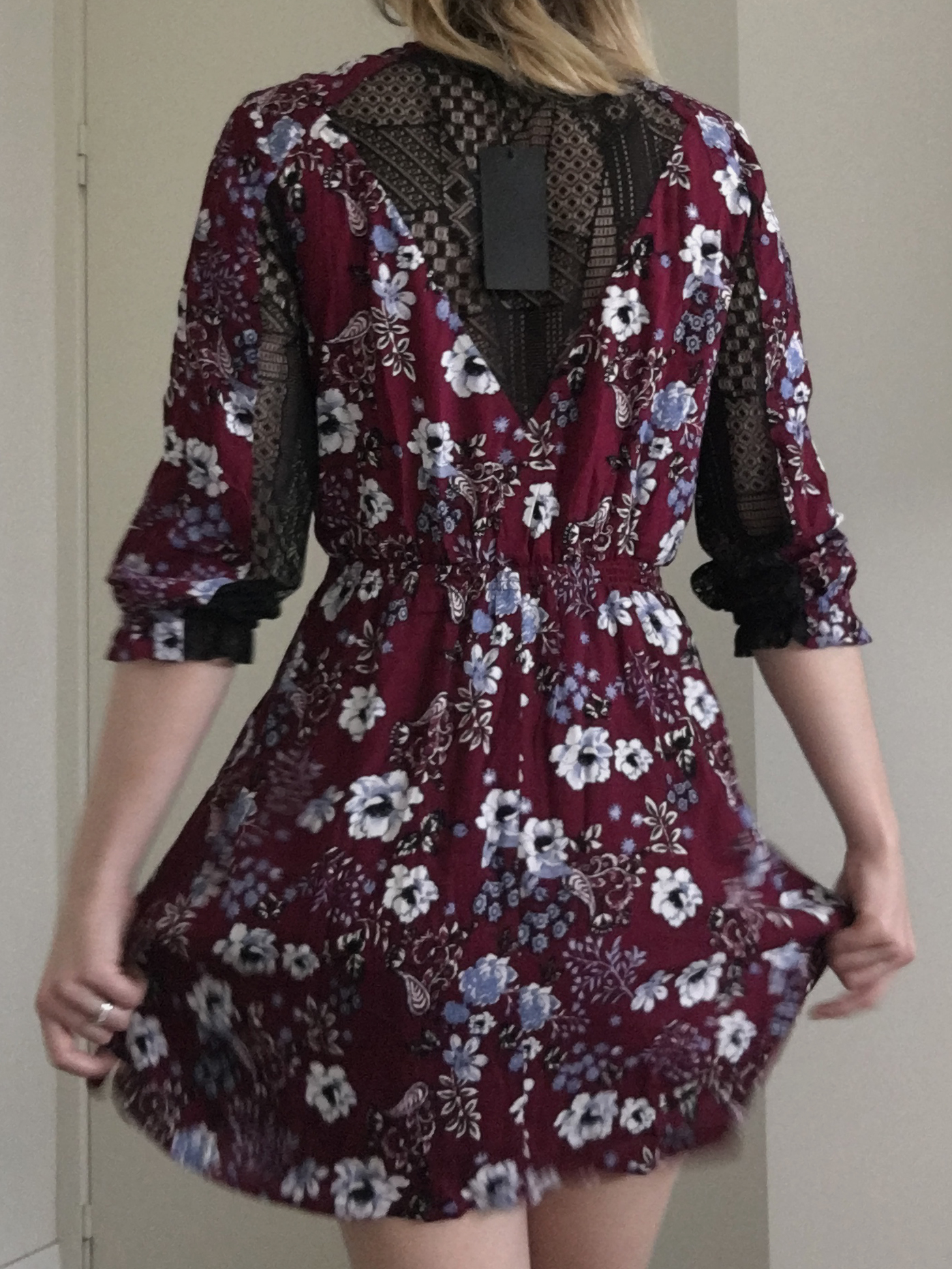 19 Cooper Floral Dress with Lace Back 4