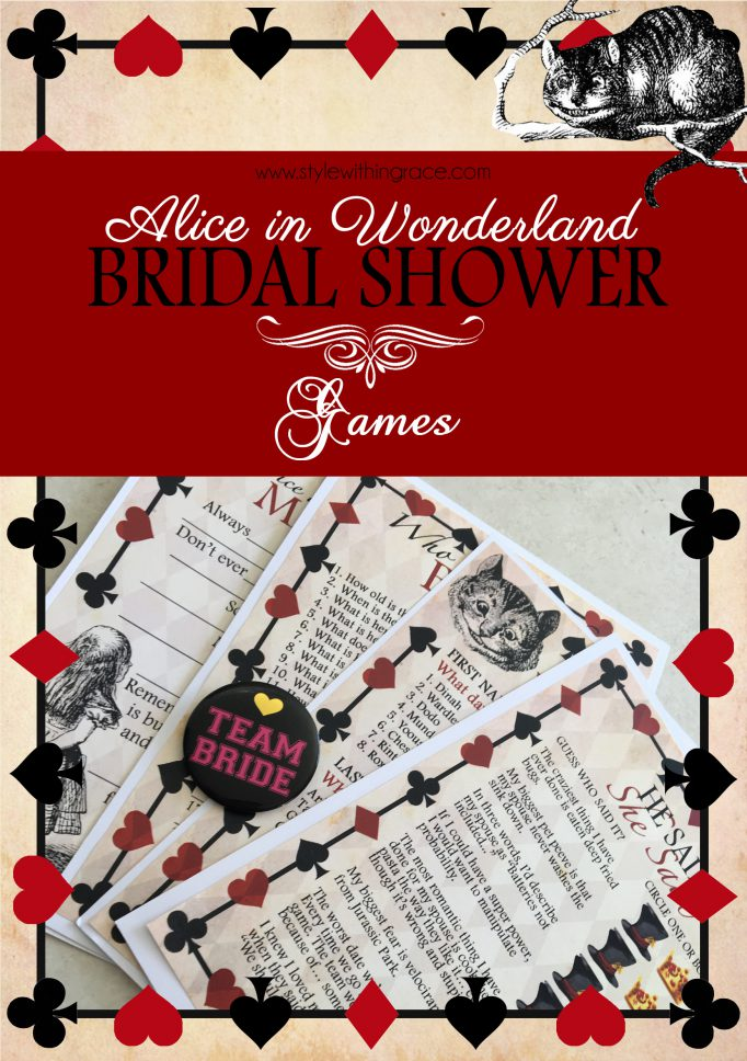 Alice In Wonderland Bridal Shower Games 3